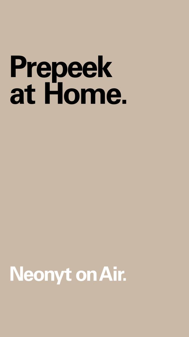 Prepeek at Home