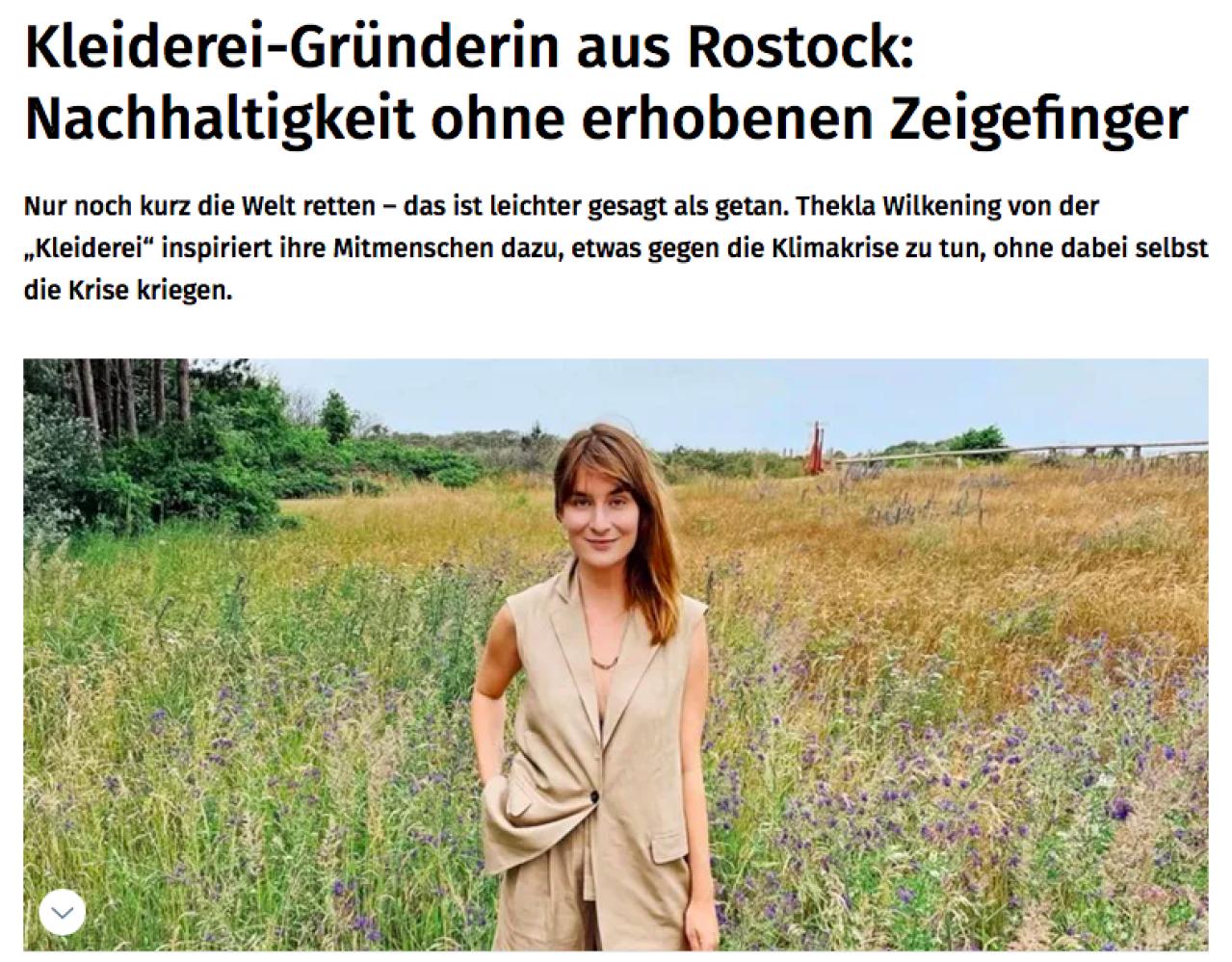 Kleiderei Thekla Wilkening Rostock Das Bio-Pizza Dilemma