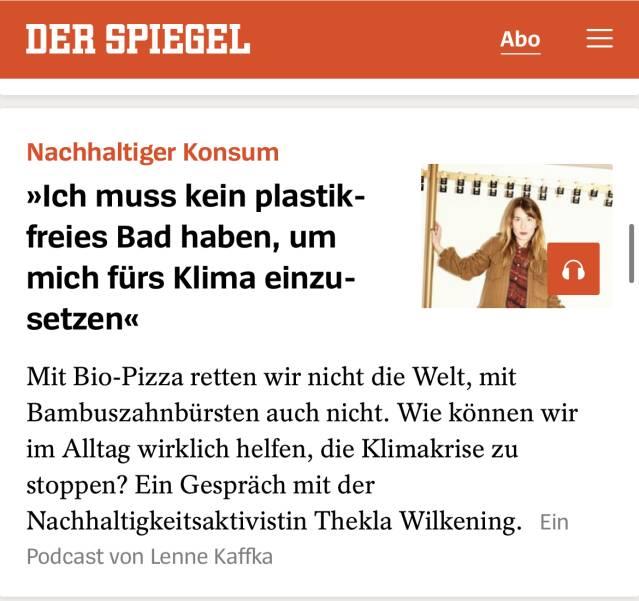 Spiegel Das Bio Pizza Dilemma Thekla Wilkening